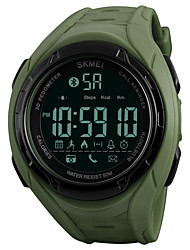 cheap -SKMEI Men's Sport Watch / Wrist Watch / Digital Watch Japanese Bluetooth / Chronograph / Water Resistant / Water Proof PU Band Casual Black / Green / Remote Control / RC