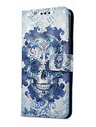 cheap -Case For Huawei Mate 10 pro Mate 10 lite Card Holder Wallet with Stand Flip Magnetic Pattern Full Body Cases Skull Hard PU Leather for