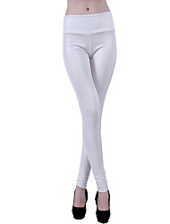 cheap -Women's Retro Cotton Opaque Solid Color Stitching Lace Legging,Solid White