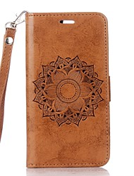 cheap -Case For Huawei Honor 8 Card Holder Wallet with Stand Flip Embossed Mandala Hard for Huawei