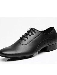 """cheap -Men's Latin Real Leather Oxford Outdoor Chunky Heel Black 1"""" - 1 3/4"""" Customizable"""