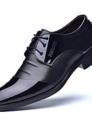 cheap -Men's Shoes Leatherette Spring Summer Driving Shoes Formal Shoes Oxfords Draping for Casual Office & Career Black Brown