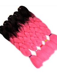 Недорогие -Волосы для кос Прямой / переплетенный Крупные косы 5 предметов косы волос Длинные Афро-конский хвост