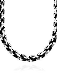 Недорогие -Муж. Геометрический принт Воротничок - нержавеющий Мода Серебряный Ожерелье Бижутерия 1 Назначение Подарок, Повседневные
