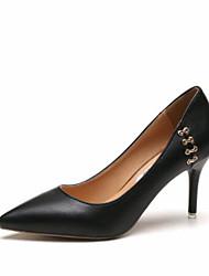 Недорогие -Жен. Обувь Полиуретан Весна / Осень Удобная обувь Обувь на каблуках На шпильке Закрытый мыс / Заостренный носок для Повседневные / на
