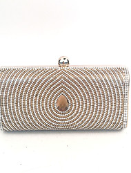 economico -Per donna Sacchetti PU / Metallo Pochette Dettagli con cristalli Oro