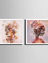 Недорогие -Люди Животные Иллюстрации Предметы искусства,ПВХ материал с рамкой For Украшение дома Предметы искусства в рамках Гостиная Спальня Кухня