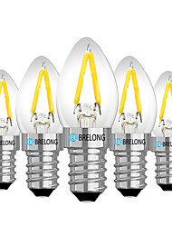 cheap -BRELONG® 5pcs 2W 120lm E14 E12 LED Globe Bulbs 2 LED Beads Warm White White Red 220V