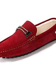 Недорогие -Муж. Обувь для вождения Замша Весна / Осень Мокасины и Свитер Красный / Зеленый / Синий
