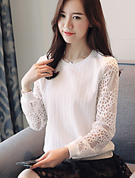 cheap -Women's Polyester Blouse - Solid, Lace