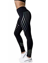 cheap -Women's Running Tights Breathability Tights Yoga Running/Jogging Cotton Tight Black White XL L M S