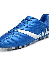 abordables -Femme Chaussures Polyuréthane Printemps / Automne Confort Chaussures d'Athlétisme Football Talon Plat Bout rond Blanc / Noir / Bleu