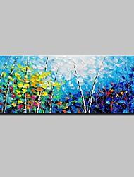 Недорогие -Hang-роспись маслом Ручная роспись - Пейзаж Простой Modern холст
