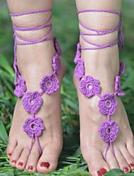 cheap -Fabric Foot Accent Women's Summer Casual White Black Purple Dark Coffee Red