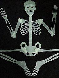 cheap -30CM Luminous Noctilucous Skull Skeleton Haunted House Bar Scene Arranged Decoration Props Halloween