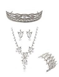 cheap -Women's Tiaras Bridal Jewelry Sets Rhinestone Fashion European Wedding Party Imitation Diamond Alloy Butterfly Body Jewelry 1 Necklace 1