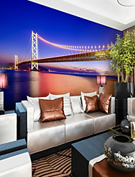 cheap -Art Deco 3D Home Decoration Contemporary City/Flag Wall Covering, Vinylal Material Adhesive required Mural, Room Wallcovering