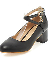 Недорогие -Жен. Обувь Полиуретан Весна Осень Удобная обувь Оригинальная обувь Обувь на каблуках На плоской подошве Заостренный носок Пряжки для Для