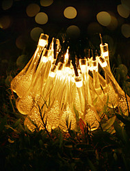 cheap -GMY® 6m String Lights 30 LEDs 6M String Light Warm White Decorative <5 V 1set / IP65