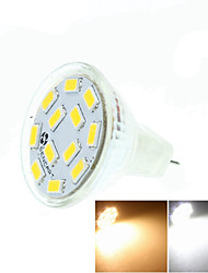cheap -5W GU4(MR11) LED Spotlight MR11 12 SMD 5730 450-500 lm Warm White Cold White Natural White 3500K  6000K 6500K K Dimmable Decorative DC 12 1pc
