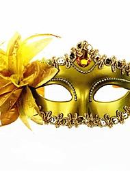 Недорогие -Карнавал Венецианская маска Маскарадная маска Черный Золотой Серебро Металл Косплэй аксессуары Маскарад