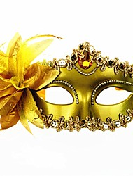 economico -Carnevale Maschera veneziana Maschera mascherata Nero Oro Argento Metallo Accessori Cosplay Mascherata
