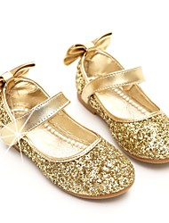 cheap -Girls' Shoes Paillette Spring / Fall Ballerina / Flower Girl Shoes Flats Bowknot / Sequin / Magic Tape for Gold / Silver