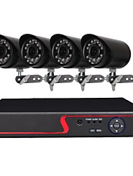 cheap -4 Channel Security Camera System with 4ch 1080N  AHD DVR 41.0MP Weatherproof Cameras with Night Vision