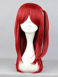 abordables -Pelucas de Cosplay Lolita Rojo Princesa Peluca de Lolita  60cm CM Pelucas de Cosplay Un Color Pelucas Para
