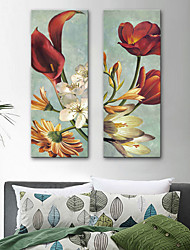 cheap -Canvas Print Rustic Modern, Two Panels Canvas Vertical Print Wall Decor Home Decoration
