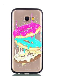 Недорогие -Кейс для Назначение SSamsung Galaxy A8 Plus 2018 A8 2018 Прозрачный Рельефный С узором Задняя крышка Продукты питания Твердый PC для