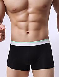 abordables -Hombre Microelástico Un Color Medio Boxer,Algodón 1 Blanco Negro Naranja Verde Claro Verde Ejército