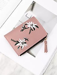 cheap -Women Bags PU Coin Purse Embroidery for Casual All Season Blushing Pink Green