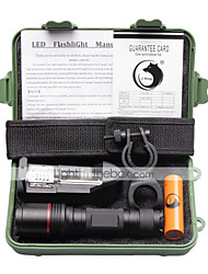 cheap -U'King LED Flashlights / Torch LED 1500 lm 4 Mode Cree XM-L L2 with Battery and Charger Compact Size Small Size Camping/Hiking/Caving
