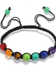 cheap -Healing Balance Beads Bracelet Yoga Life Energy Bracelet Onyx Synthetic Tanzanite Synthetic Sapphire Synthetic Ruby Opal Classic Sweet Hemp Rope