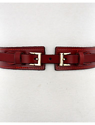 cheap -Women's Genuine Leather Waist Belt,Khaki Camel Red Black Casual