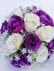 """Недорогие -Свадебные цветы Букеты Свадьба Особые случаи Полиэстер 28 см 11,02""""(около 28см)"""