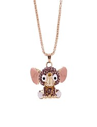 cheap -Women's Rhinestone Pendant Necklace Chain Necklace - Simple Fashion Elephant Necklace For Gift Going out