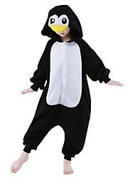 cheap -Kigurumi Pajamas Penguin Onesie Pajamas Costume Polar Fleece Black Cosplay For Kid's Animal Sleepwear Cartoon Halloween Festival / Holiday