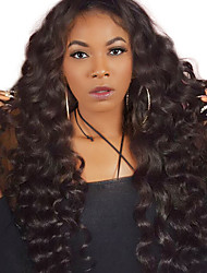 preiswerte -Echthaar Spitzenfront Perücke Peruanisches Haar Lose gewellt Mit Strähnen 250% Dichte Natürlicher Haaransatz Medium Lang Damen Echthaar