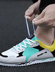 baratos -Homens sapatos Camurça / Courino / Couro Ecológico Primavera Conforto / Solados com Luzes Tênis Preto / Vermelho / Verde / Corrida