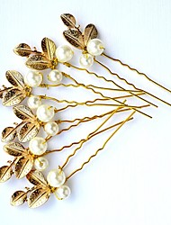 cheap -Imitation Pearl Alloy Hair Pin with Faux Pearl 3 Pieces Wedding Party / Evening Headpiece
