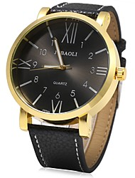 cheap -JUBAOLI Men's Wrist watch Chinese Quartz Large Dial Stainless Steel Band Cool Black