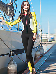 cheap -HISEA® Women's Full Wetsuit 0.5mm Diving Suit Breathable Long Sleeve - Swimming / Diving / Surfing Solid Colored / Fashion Spring /