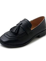 cheap -Women's Shoes PU Summer Comfort Flats Walking Shoes Low Heel Open Toe for Casual Black Beige Light Brown