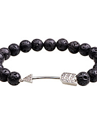 cheap -Men's Onyx Volcanic Stone Tiger Eye Stone Chain Bracelet Bangles - Simple Casual Fashion Circle Black Brown Blue Bracelet For Daily Formal
