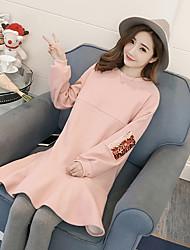 abordables -Femme Ample Robe - Imprimé Taille Haute