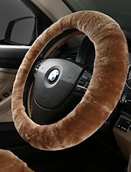 baratos -Coberturas de volante automotivo (plush) para universal