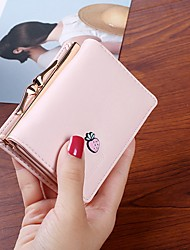 cheap -Bags PU Wallet Buttons for Casual All Seasons Blue Blushing Pink