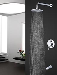 abordables -Moderno Colocado en la Pared Ducha lluvia Alcachofa incluida Cromo, Grifo de ducha